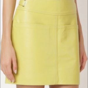 $625 NWT Coach Leather Mini Skirt Pockets 2